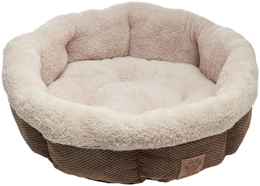 precision snoozy mod chic round cat bed