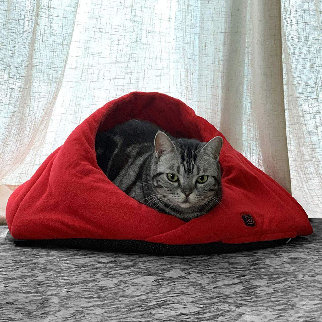 naconic heated cat bed cave design