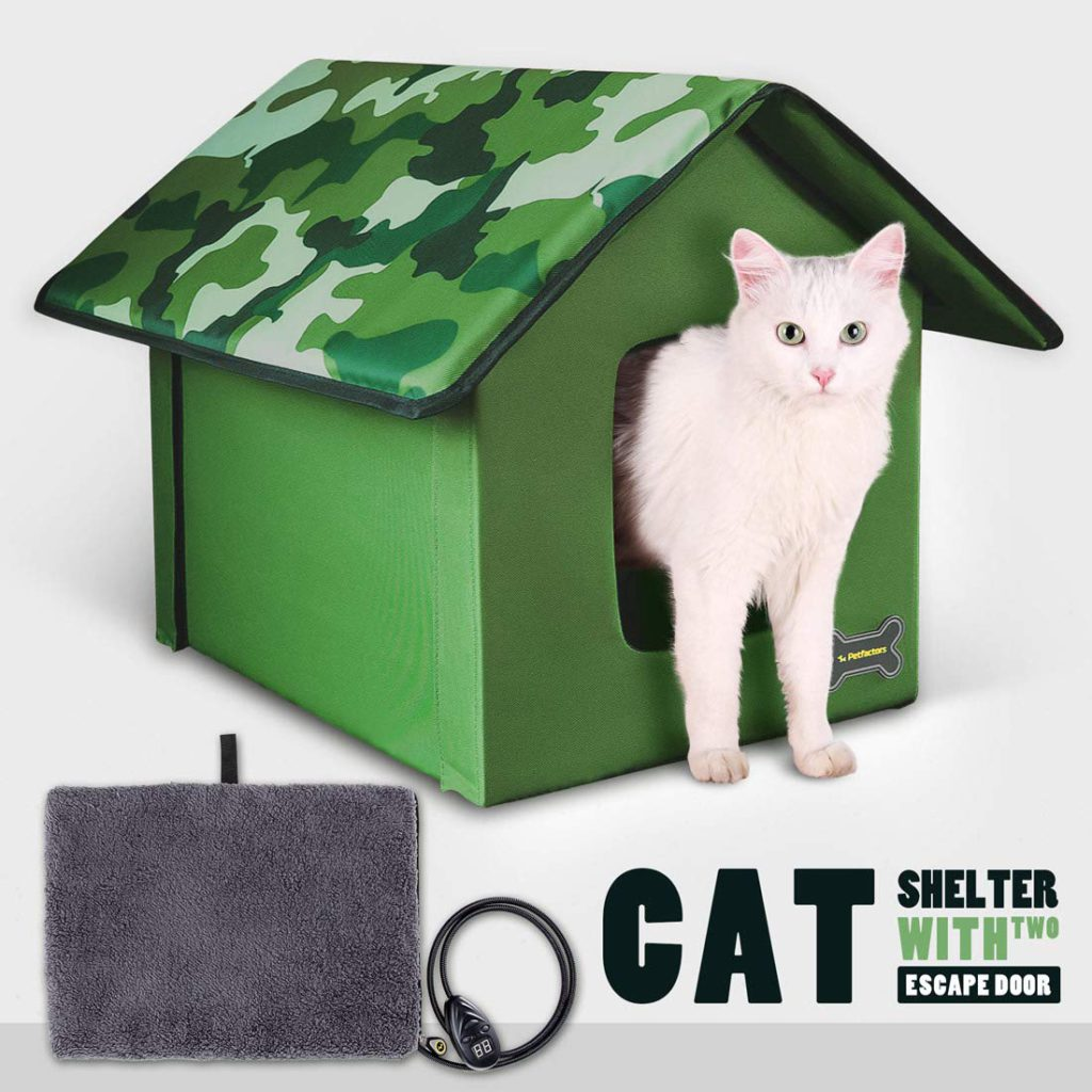petfactors heated outdoor cat houses