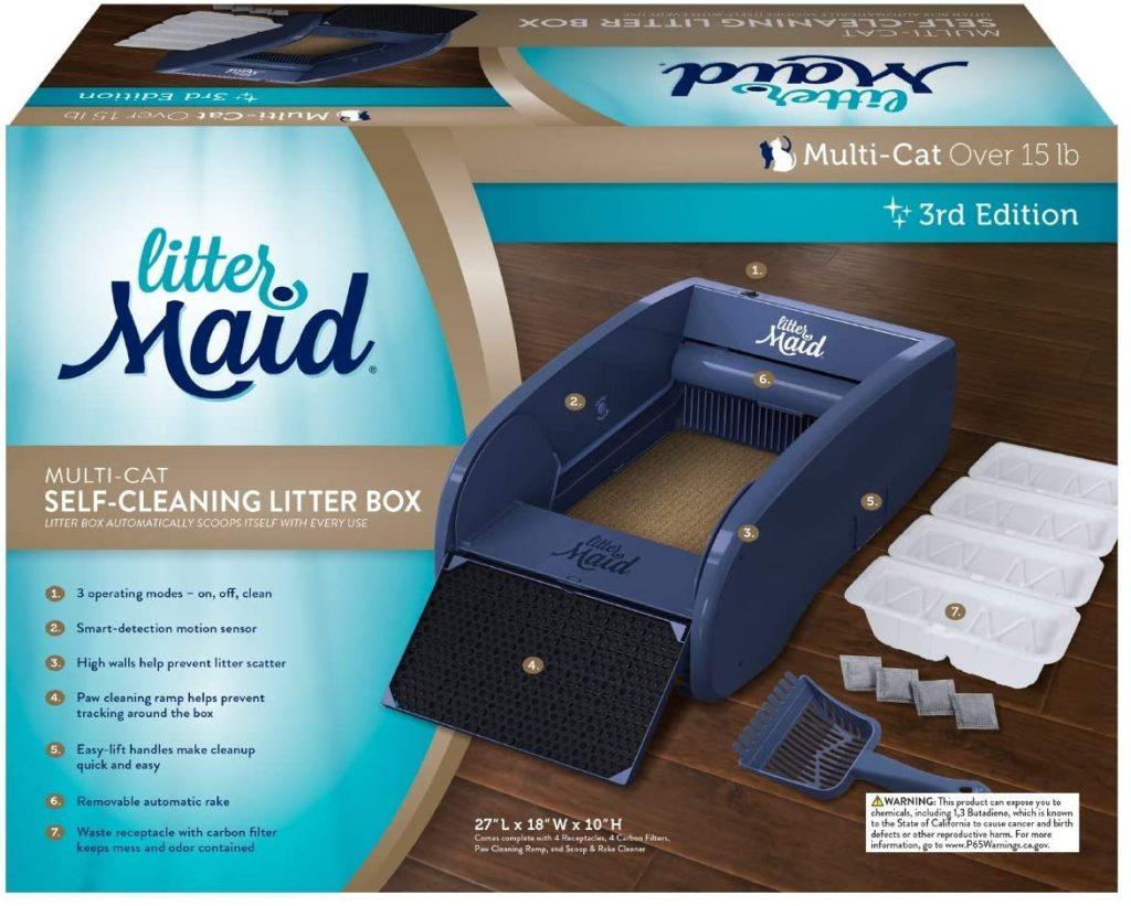 littermaid multi cat self cleaning litter box