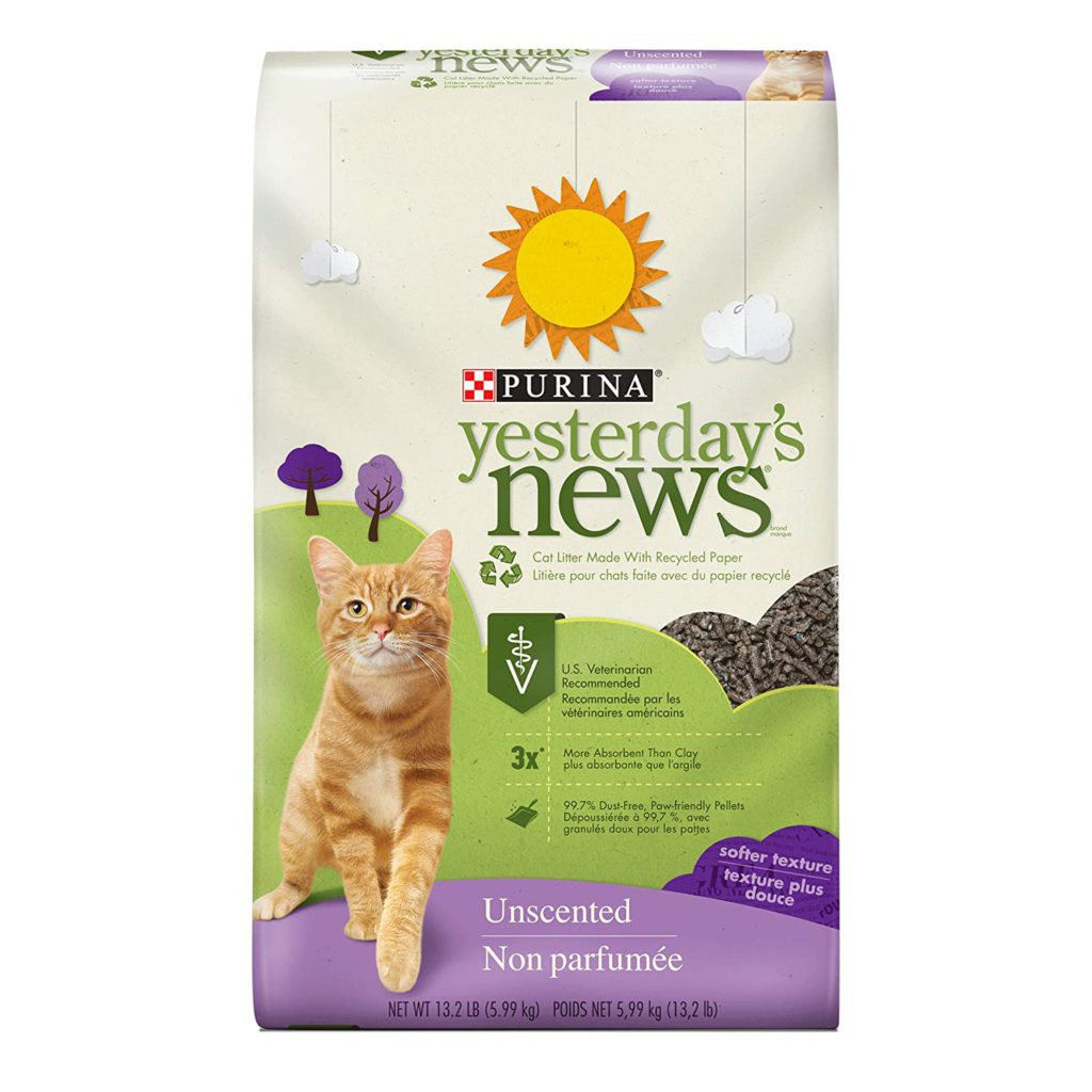 purina yesterday's news non-clumping cat litter