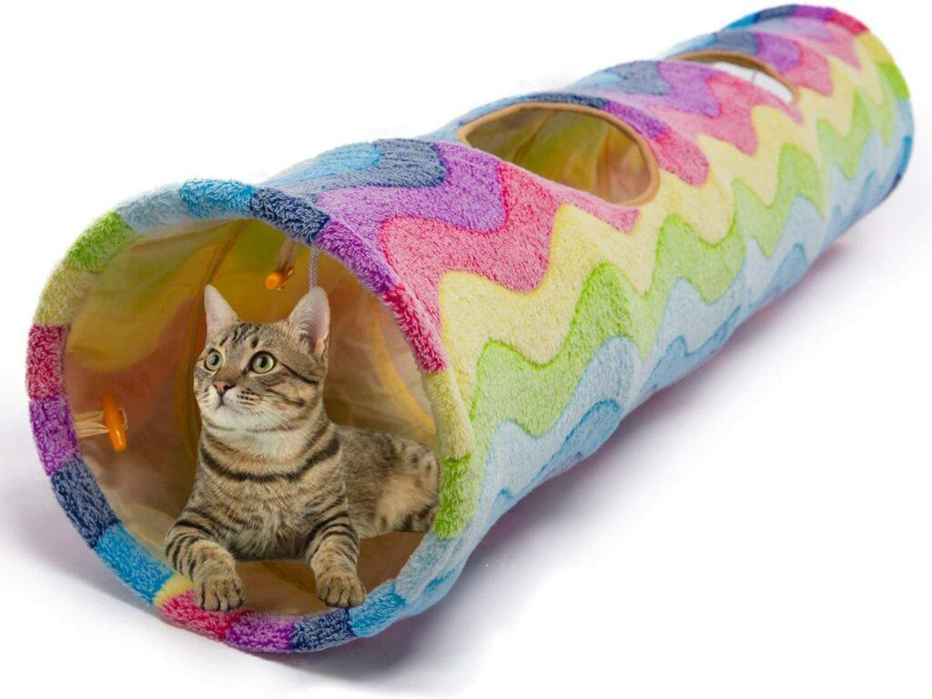 luckkitty large cat toy collapsable tunnel