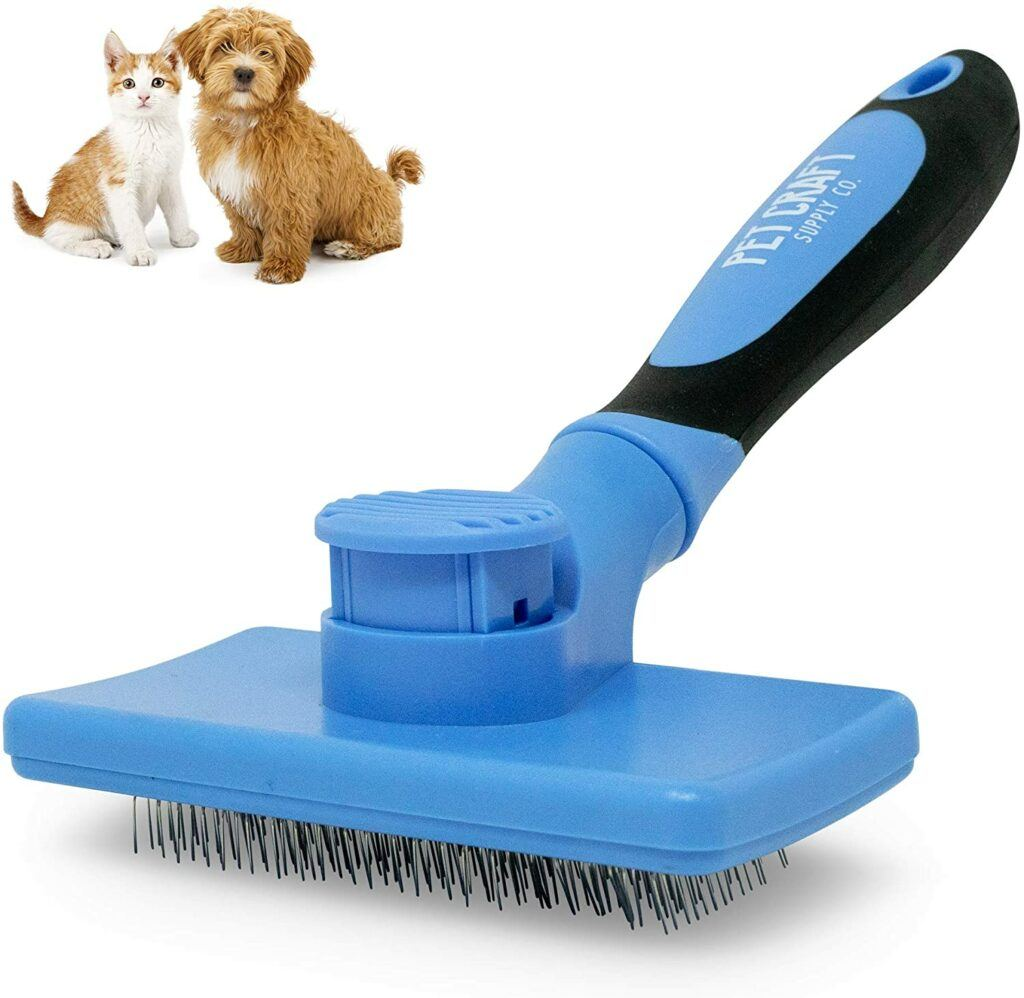 pet craft supply self cleaning slicker brush