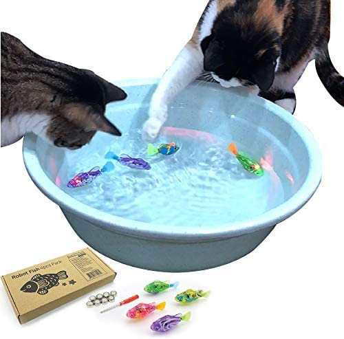interactive swimming fish cat toy