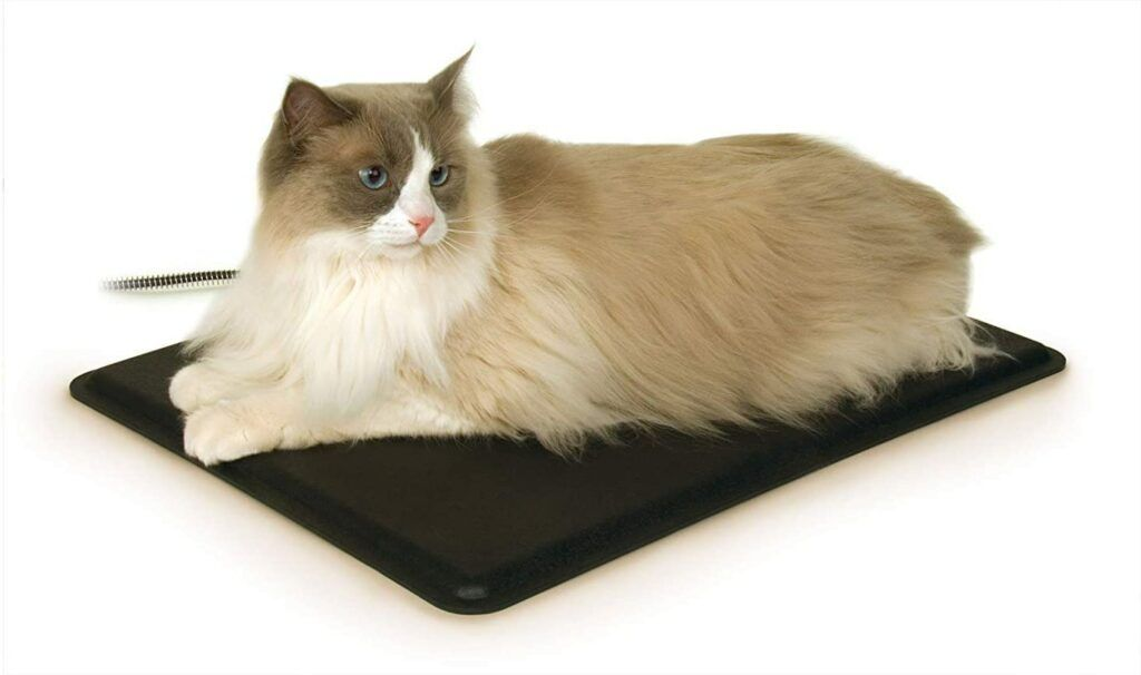 k and h pet products heated extreme weather outdoor heated kitty pad