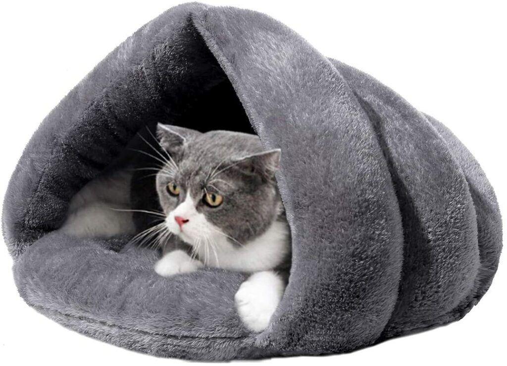 meillimiyu cozy plush cat cave