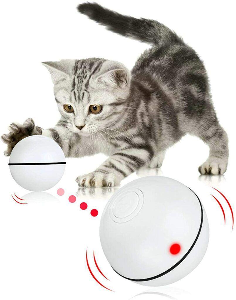 pakoo robotic cat toy ball