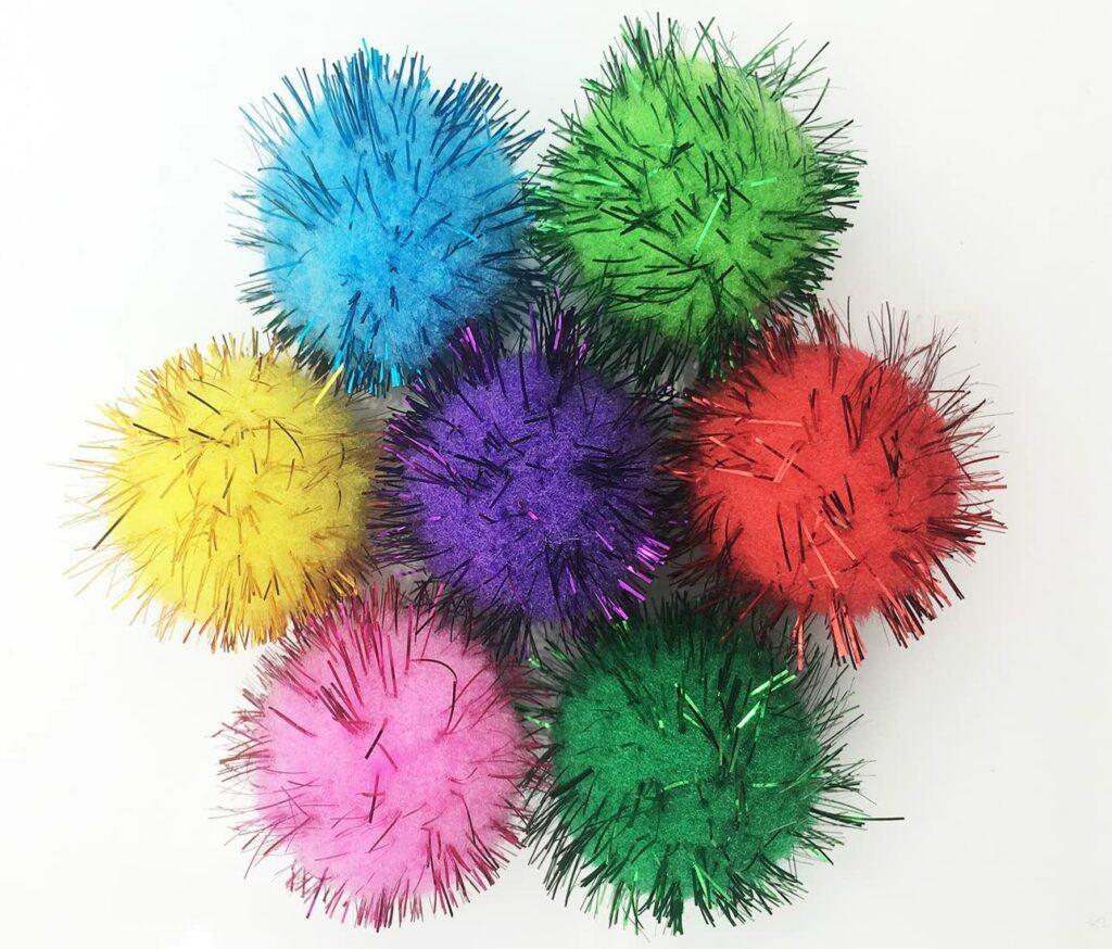 vapker 30 piece assorted color sparkle balls