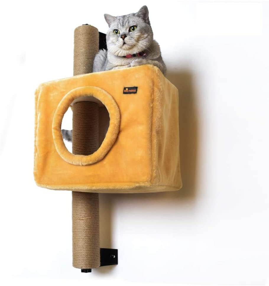 big nose wall mounted cat condo