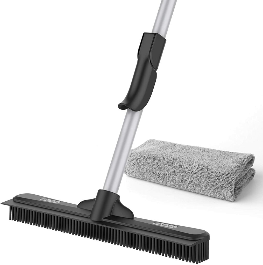 MR SIGA Per Hair Removal Rubber Broom with Built in Squeegee