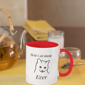 best cat mum ever ceramic mug