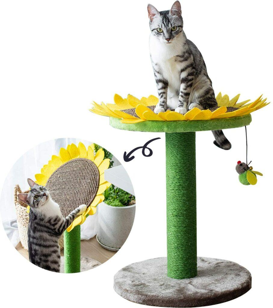 atry cat bed with scratching post