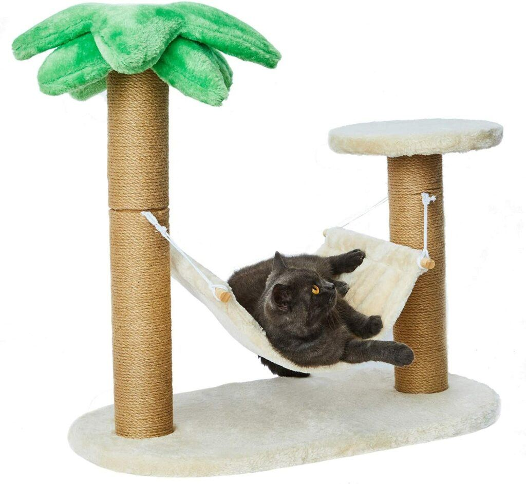 luckitty small scratching posts with hammock