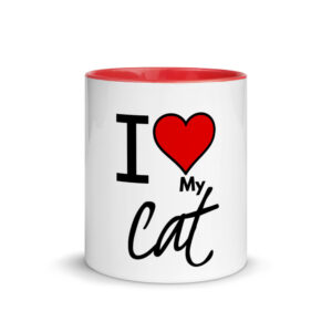 i love y cat ceramic mug