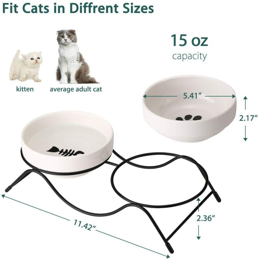 AceElite Cat Food Bowls elevated