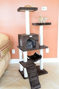 armarket glee pet cat tree with steps
