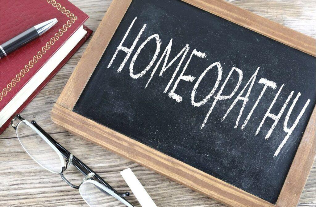 homeopathy chalkboard