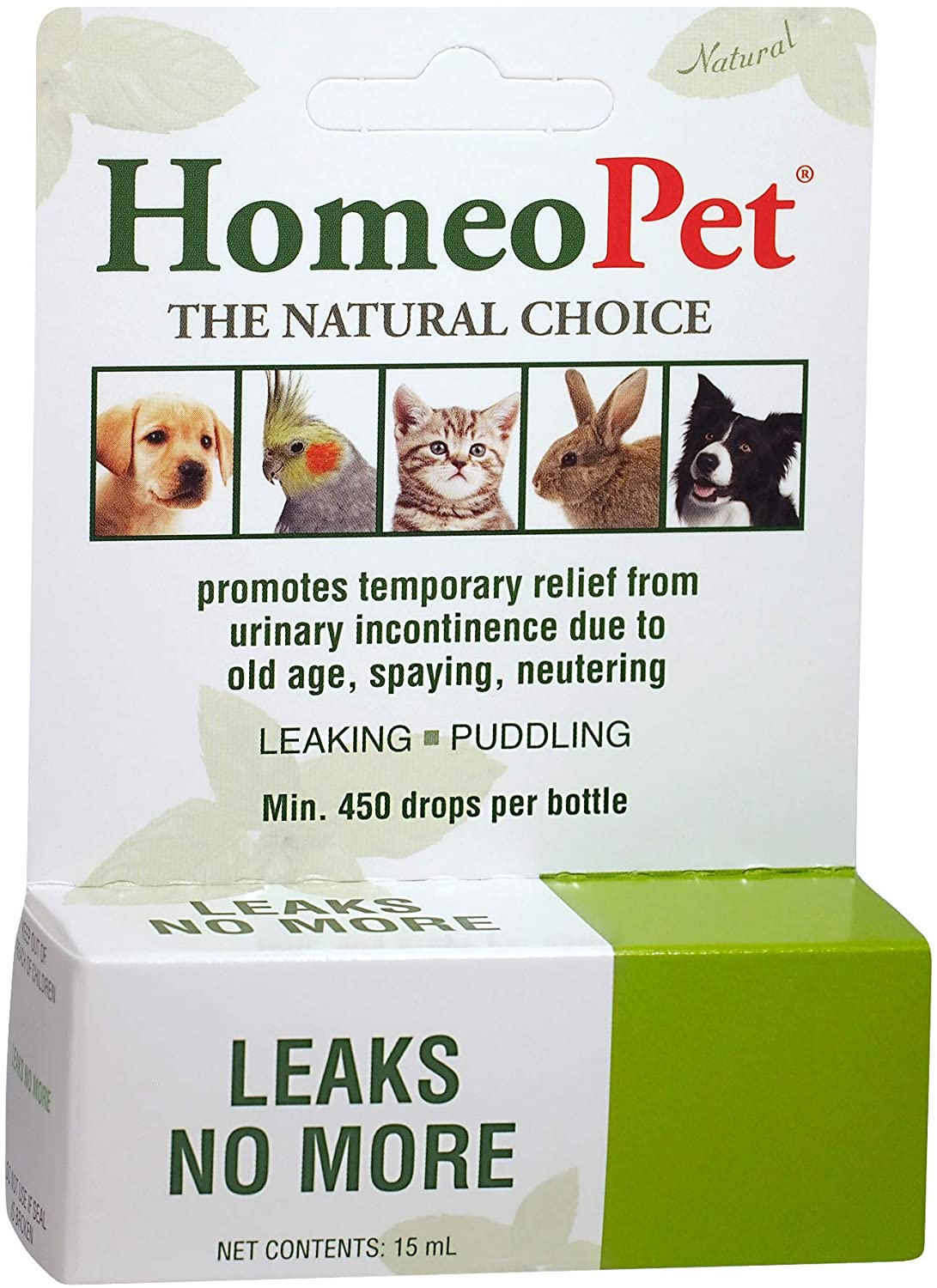 homeopet cat and dog leaks no more