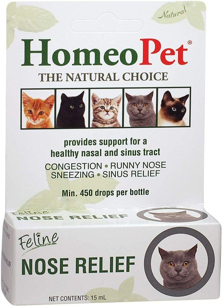 feline nose relief