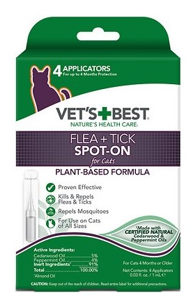 vets best flea and spot on for cats