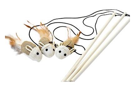 earthtone solutions sisal wand teaser cat toy