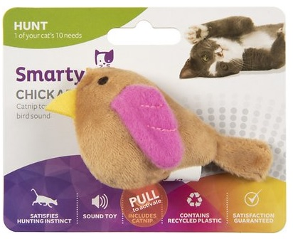 smartycat chickadee bird sound cat toy