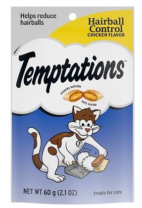 temptations hairball control chicken flavor