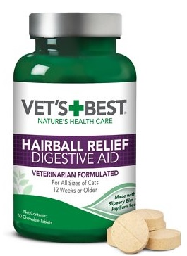 vet's best hairball relief digestive aid